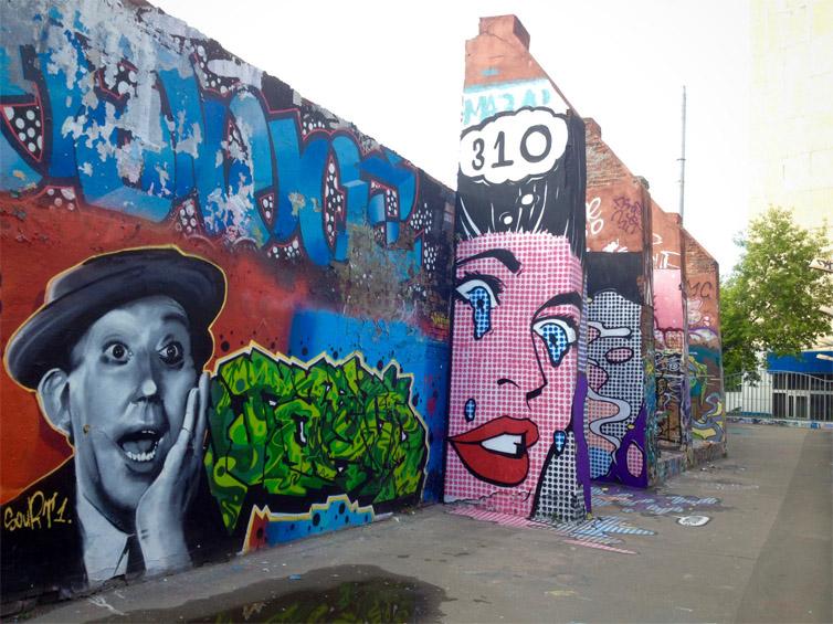 Крутые стрит-арт граффити, картинки граффити - прикольная сборка 15