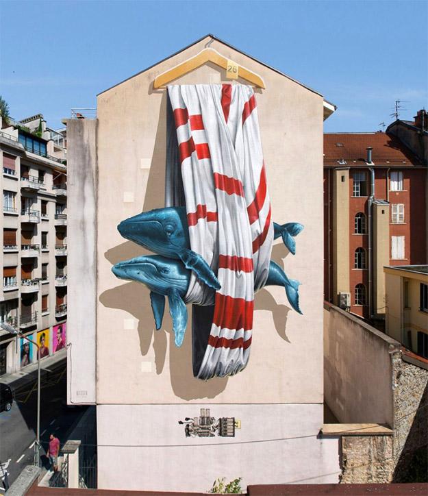 Крутые стрит-арт граффити, картинки граффити - прикольная сборка 22