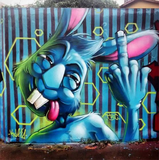 Крутые стрит-арт граффити, картинки граффити - прикольная сборка 9