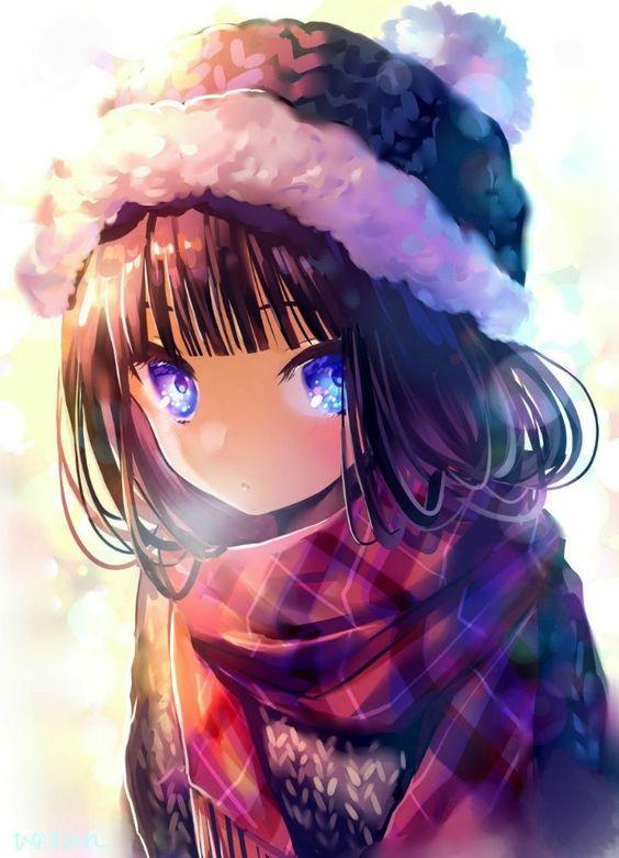 Очаровательные и милые аниме картинки - красивая коллекция 1