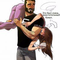 Прикольные и забавные комиксы про девушек и парней - сборка 11