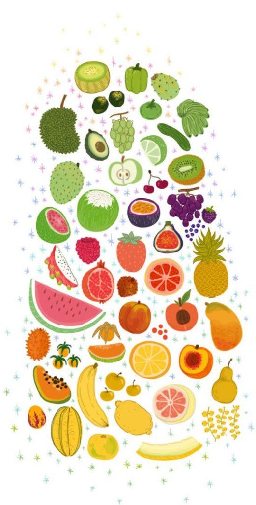 Прикольные и кавайные картинки фруктов для срисовки - подборка 12
