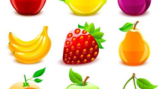 Прикольные и кавайные картинки фруктов для срисовки - подборка 14
