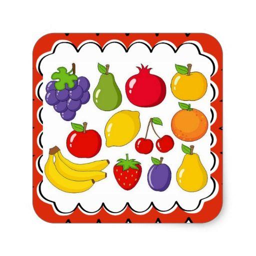 Прикольные и кавайные картинки фруктов для срисовки - подборка 5