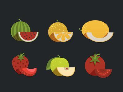 Прикольные и кавайные картинки фруктов для срисовки - подборка 7