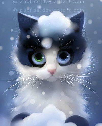 Прикольные и красивые картинки на аву кошки и котики - подборка 5