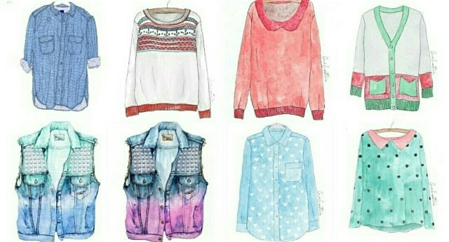 Прикольные и красивые картинки одежды для срисовки - подборка 13