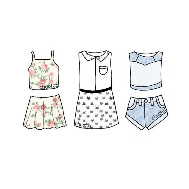 Прикольные и красивые картинки одежды для срисовки - подборка 22