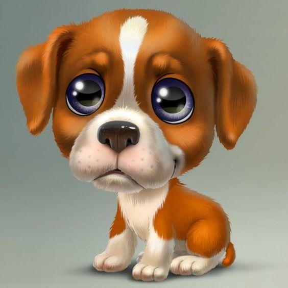 Прикольные картинки щенков для срисовки - милая подборка 15