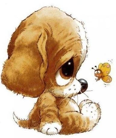 Прикольные картинки щенков для срисовки - милая подборка 3