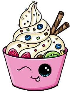 Картинки сладостей и вкусняшек для срисовки в дневник - подборка 9