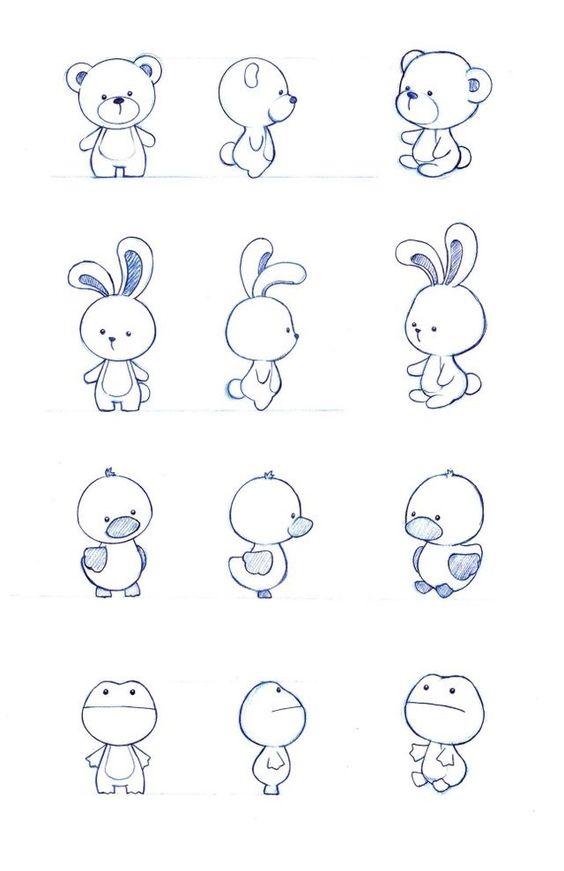 Классные и легкие рисунки, картинки срисовки для ЛД - подборка 7