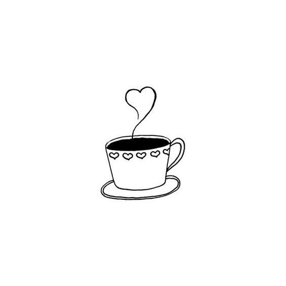 Классные и прикольные картинки для срисовки кофе сборка 2018 14