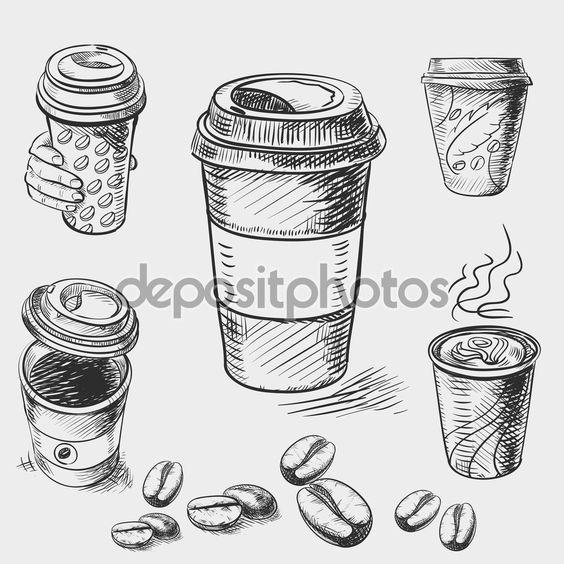 Классные и прикольные картинки для срисовки кофе сборка 2018 15