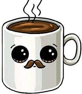 Классные и прикольные картинки для срисовки кофе сборка 2018 4