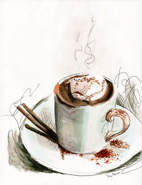 Классные и прикольные картинки для срисовки кофе сборка 2018 7