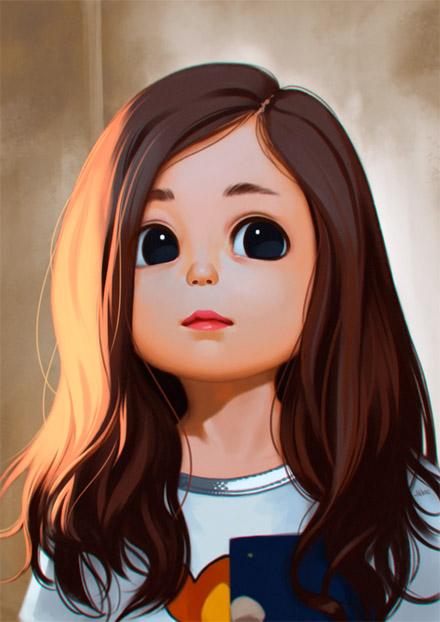 Красивые Арты девушек на аву в социальные сети - подборка 11