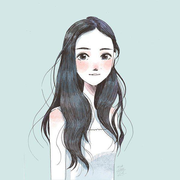 Красивые Арты девушек на аву в социальные сети - подборка 9