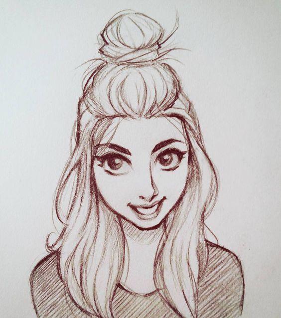 Красивые и милые картинки арт девочек для срисовки - сборка 13