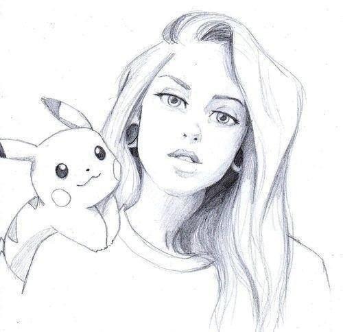 Красивые и милые картинки арт девочек для срисовки - сборка 16