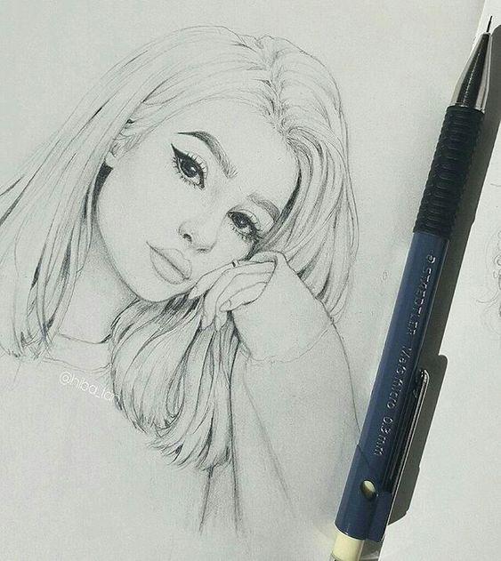 Красивые и милые картинки арт девочек для срисовки - сборка 17