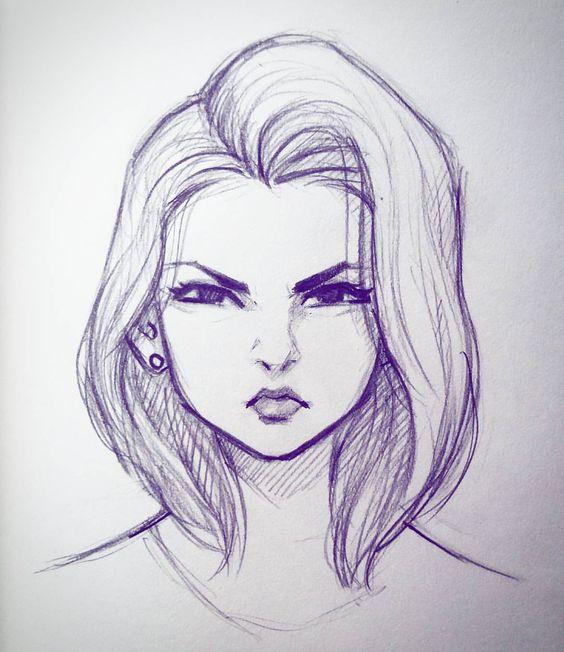 Красивые и милые картинки арт девочек для срисовки - сборка 18