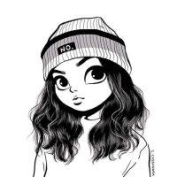 Красивые и милые картинки арт девочек для срисовки - сборка 2