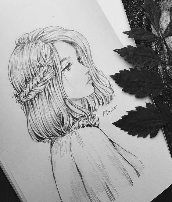 Красивые и милые картинки арт девочек для срисовки - сборка 3