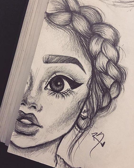 Красивые и милые картинки арт девочек для срисовки - сборка 5
