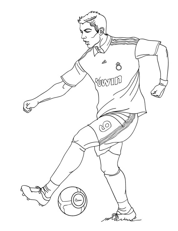 картинки с футболистами для рисунка отношении начальника