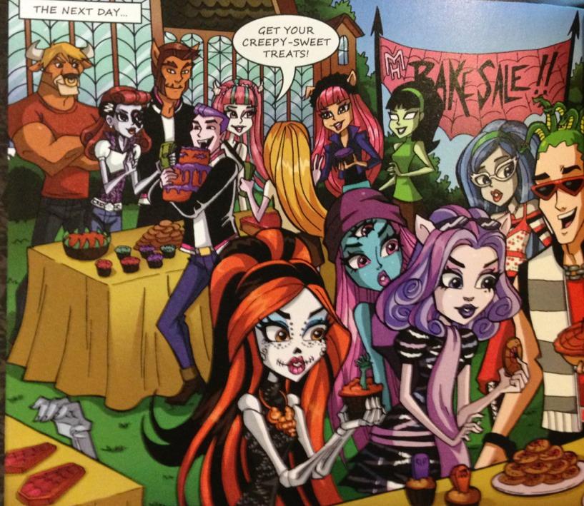 Красивые и прикольные комиксы про Школа монстров Monster High 19