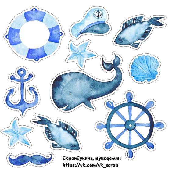 Красивые и прикольные морские картинки для срисовки - подборка 2