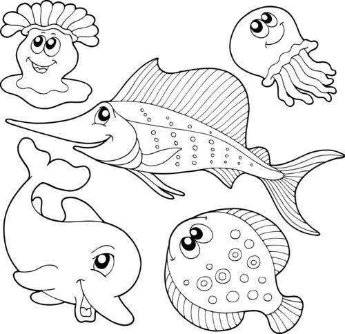Красивые и прикольные морские картинки для срисовки - подборка 6