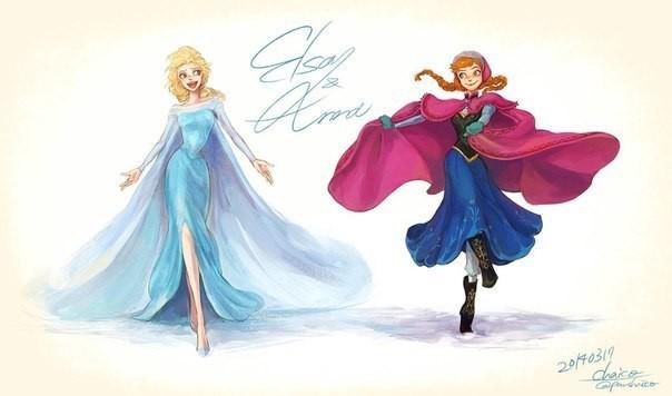 Красивые картинки Эльза и Анна из Холодного Сердца - подборка 7
