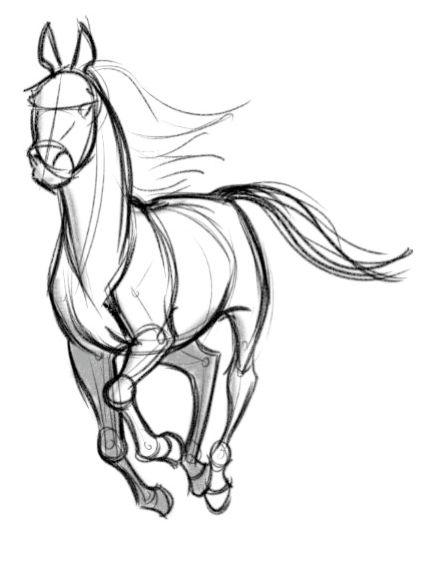 Красивые картинки для срисовки карандашом лошади или пони 13
