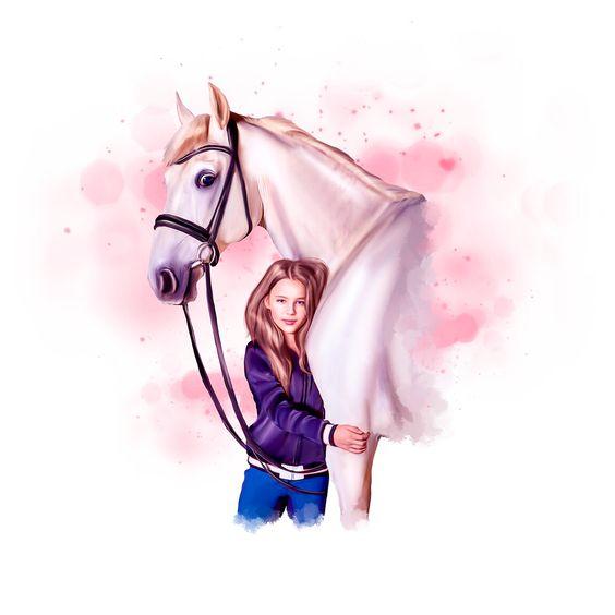 Красивые картинки для срисовки карандашом лошади или пони 7