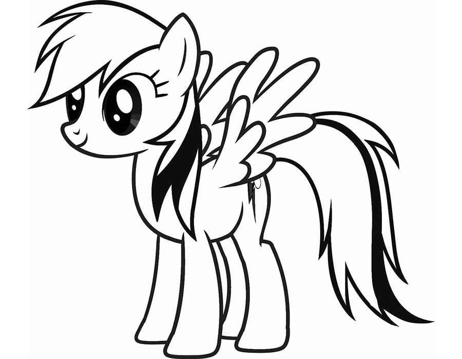 Красивые картинки для срисовки карандашом лошади или пони 9