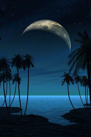 Невероятные и необычные картинки, фото луны на телефон на заставку 19