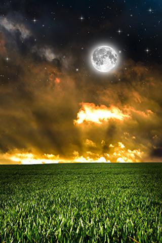 Невероятные и необычные картинки, фото луны на телефон на заставку 9