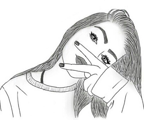 Очень милые и прикольные картинки для срисовки девочкам 15 лет 7