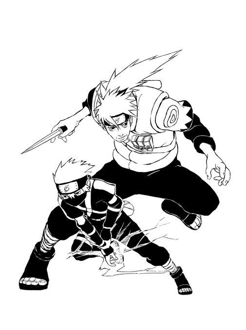Прикольные картинки для срисовки из аниме Наруто - подборка 5