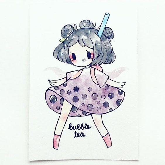 Самые прикольные картинки для девочек для срисовки на бумагу 3