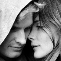 Черно-белые фото влюбленных людей, красивые пары - сборка фото 6