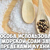 4 способа использования морской соли за пределами кухни 1
