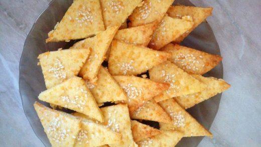 Как приготовить вкусное печенье Тающие треугольники - рецепт 1