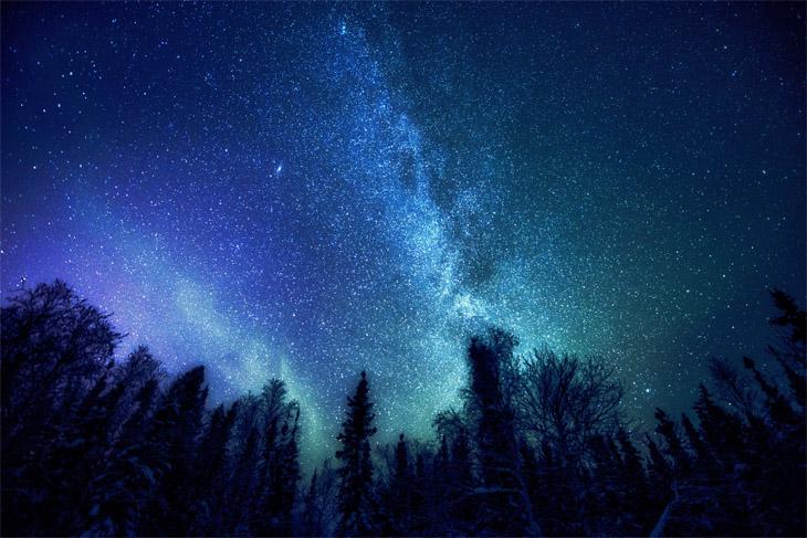 Классные картинки на аву звездное небо, яркие звезды - подборка 7