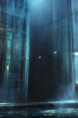 Красивые и необычные картинки на телефон Дождь - подборка 4
