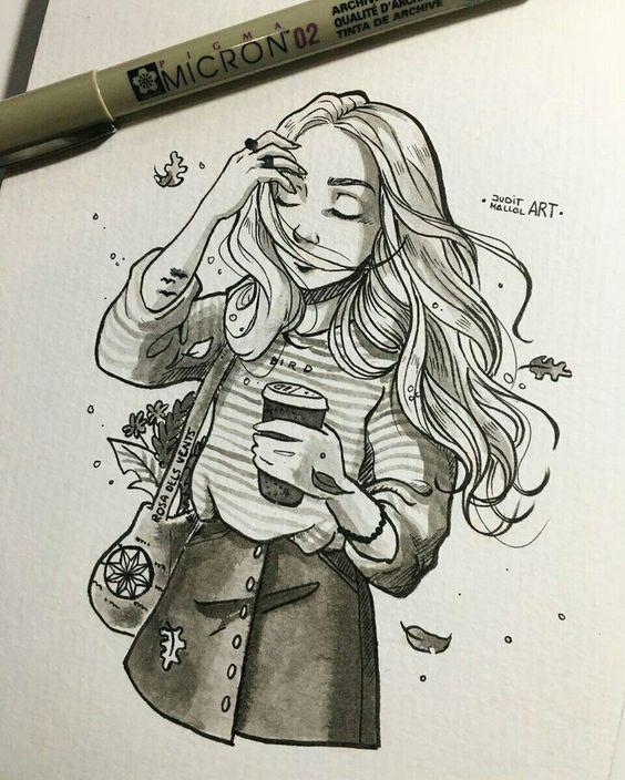 Красивые и прикольные зарисовки в личный дневник - подборка рисунков 6