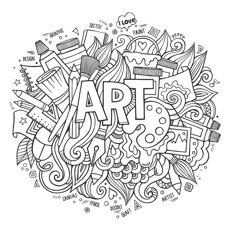 Красивые и прикольные картинки для срисовки Антистресс - сборка 10