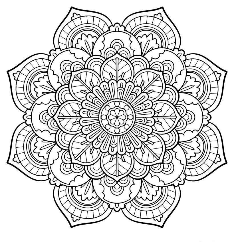 Красивые и прикольные картинки для срисовки Антистресс - сборка 15